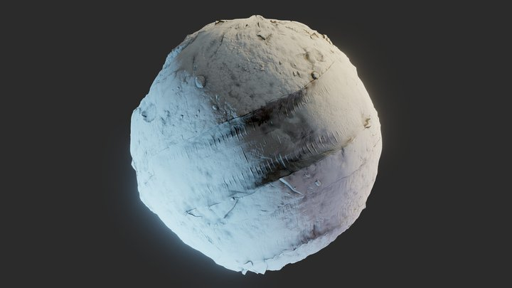 Procedural Snow with tire tracks Material 3D Model