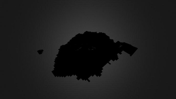 桜島火山 1996 3D Model