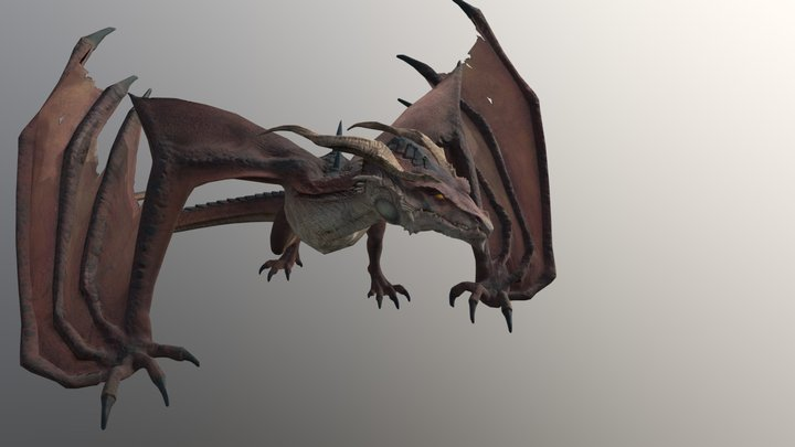 Animated Dragon 3D Model