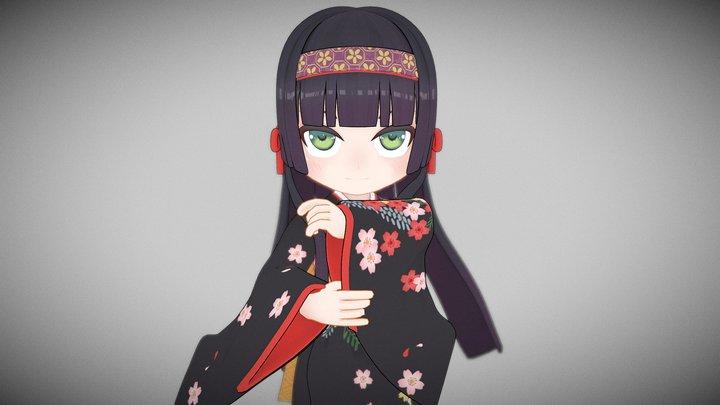 莲华(れんげ)美少女万华镜 3D Model