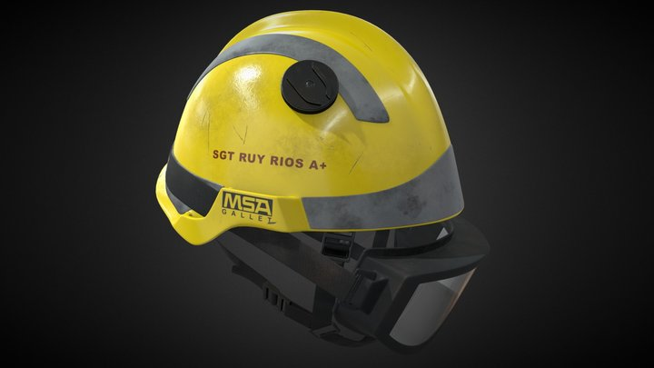 MSA fire helmet 3D Model