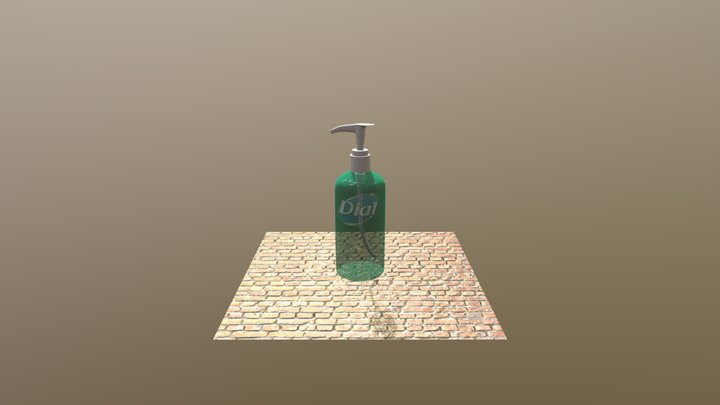 Soap Bottle 3D Model