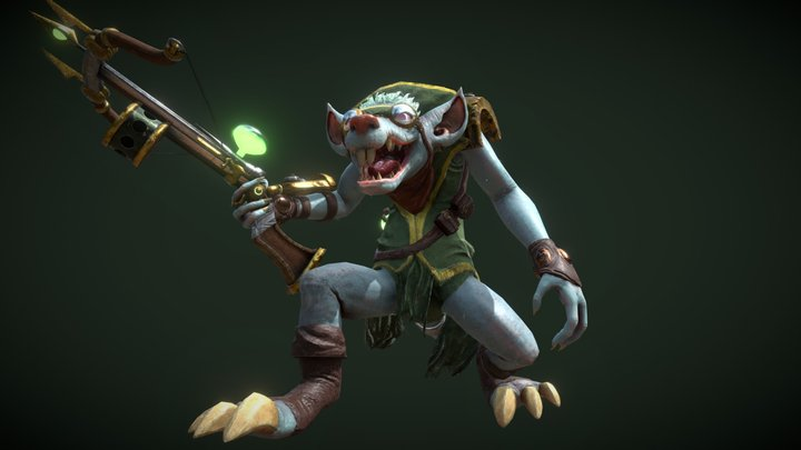 Twitch, The plague rat - League of Legends 3D Model