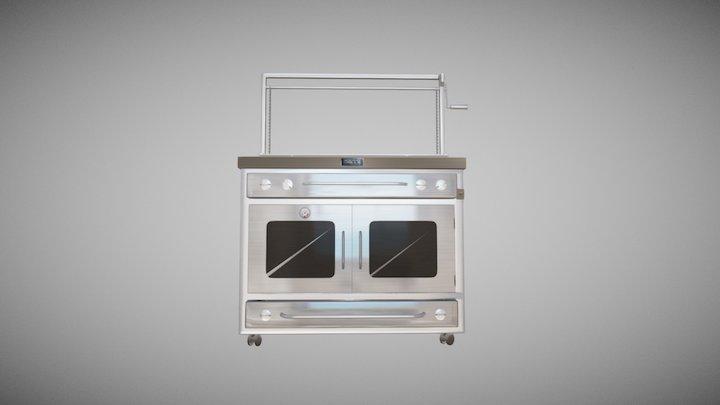 Gray Grill 3D Model