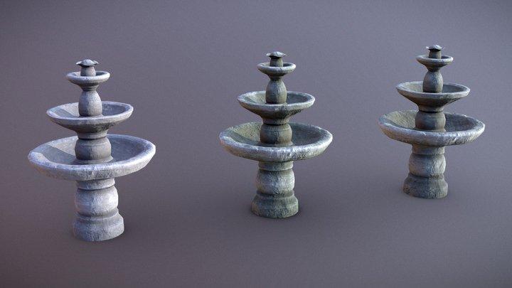 Water Fountain Set 3D Model