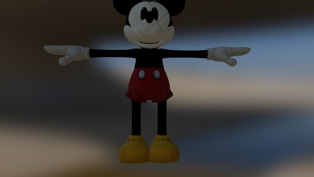 Epic Mickey in the morning 3D Model