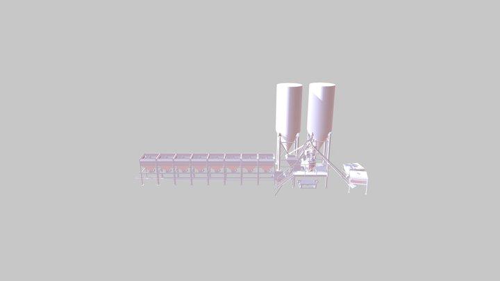 concrete mixing plant 3D Model