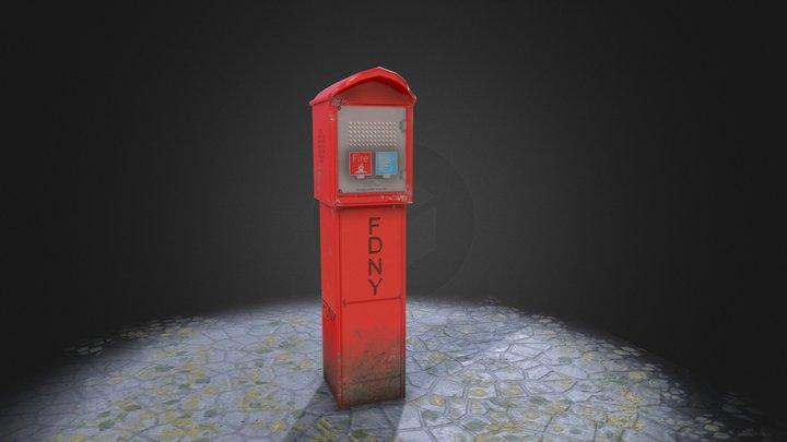 New York Callbox 3D Model