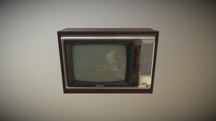 Old School TV 3D Model