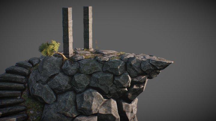 Ancient Mountain 3D Model