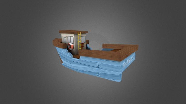Fishing Boat Kwalee 3D Model
