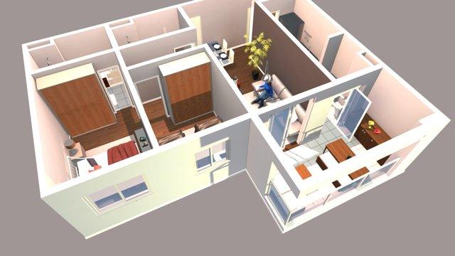 Apartamento Bake20 3D Model