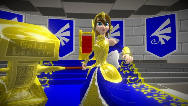 Queen Puryncess 3D Model