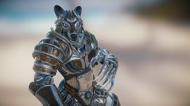 Anthro Wolf 3D Model