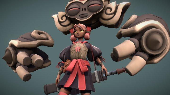 Sakura (WIP) 3D Model