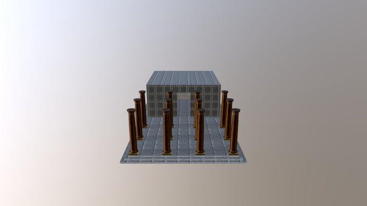 Old columns 3D Model