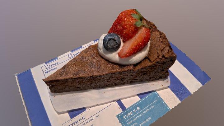 [習作]新宿御苑「Frips」のガトーショコラ 3D Model
