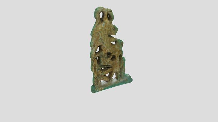 Pendant of Sekhmet Nursing the King 3D Model