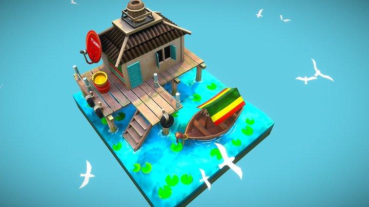 Port House 3D Model