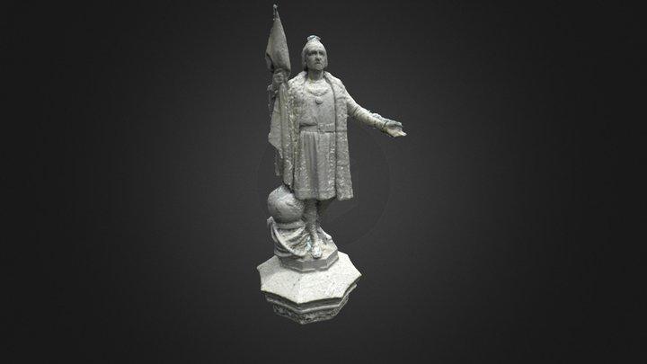Cristóbal Colón, Monumento en Madrid (España) 3D Model