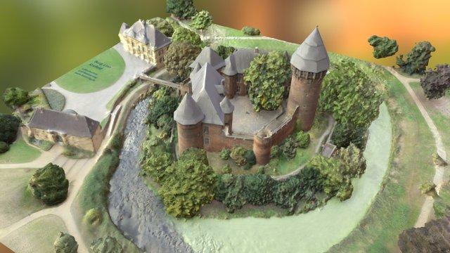 Burg Linn Krefeld aerial photogrammetry 3D Model