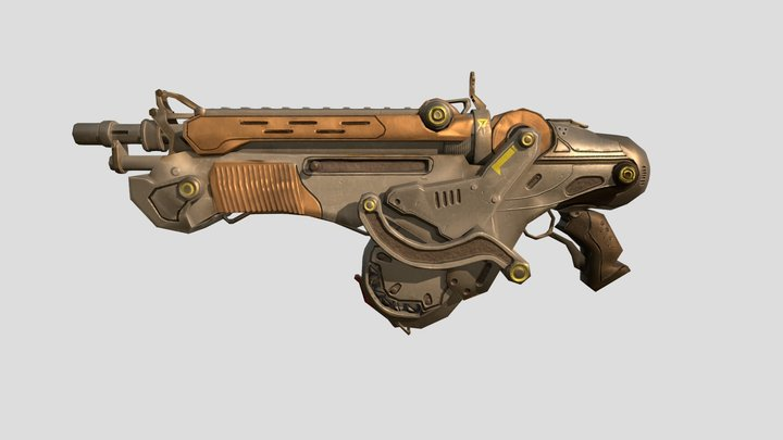 Bulletstorm - Peacemaker Carbine 3D Model