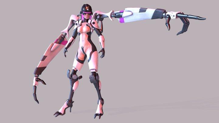 Cyborg - Posed 3D Model
