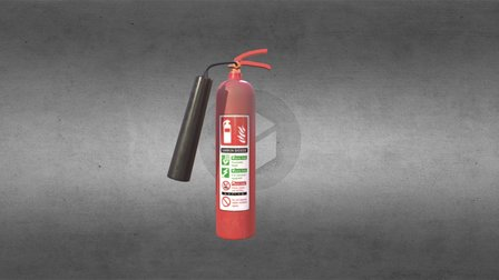 Simple PBR Object - Low Poly Fire Extinguisher 3D Model
