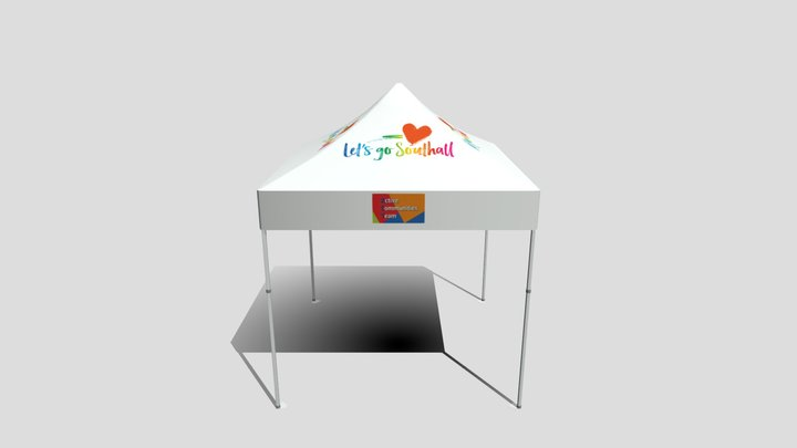 3x3 Canopy - Lets Go Southall 3D Model