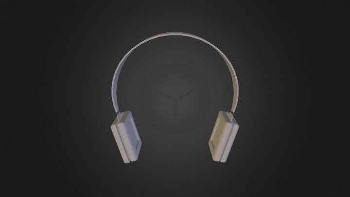 Simple Headphones 2 3D Model