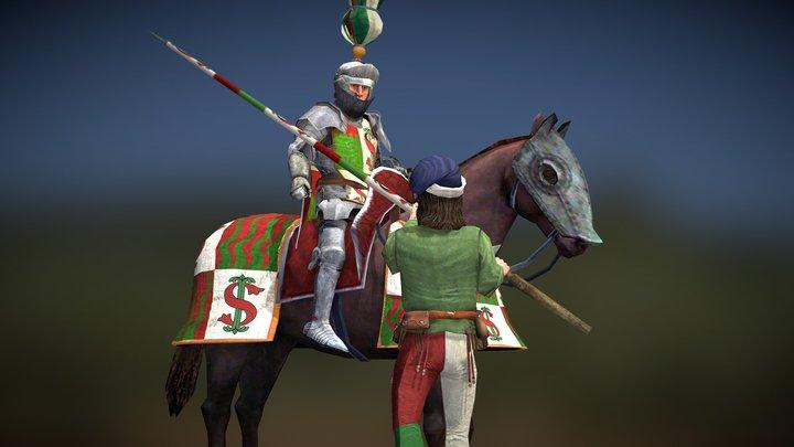 """Uomo d'Arme"" Italian Elite Cavalry 3D Model"