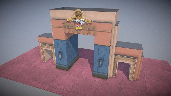 Disney's Hollywood Studios MGM Archway 3D Model