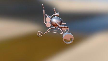 Steampunk Robot (No Materials) 3D Model