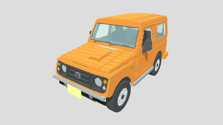 Suzuki_Jimny_JA22_Voxel 3D Model