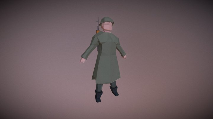 Low-Poly: Army Character 3D Model