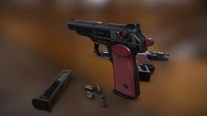 Stechkin APS 3D Model