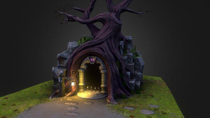 Cave gate Stylized 3D Model