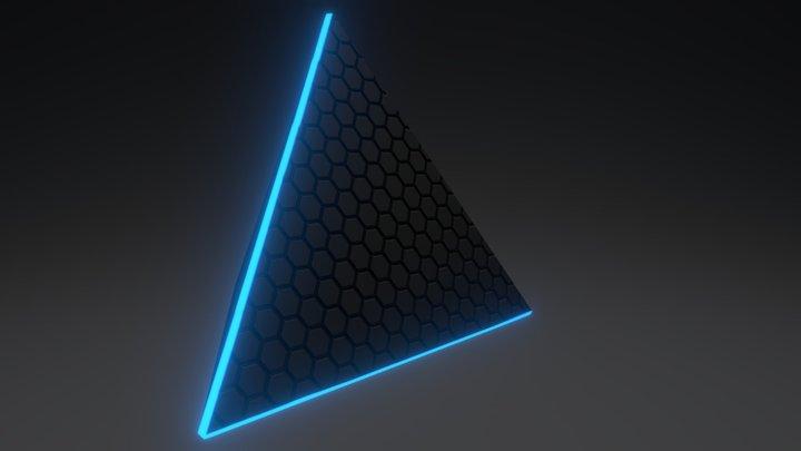 Triangle-LED Light 3D Model