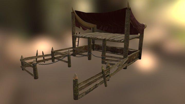 Orcs Settlement - Stables 3D Model