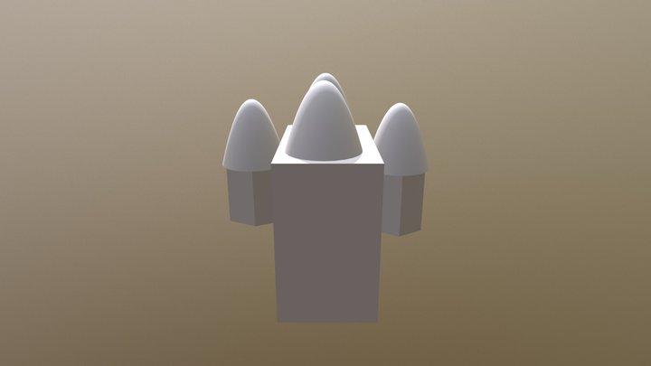 Simon Rocket 3D Model