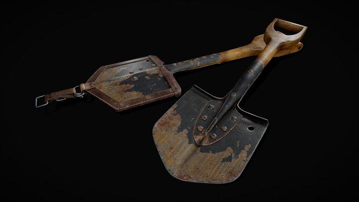 WWII Finnish Infantry Shovel 3D Model