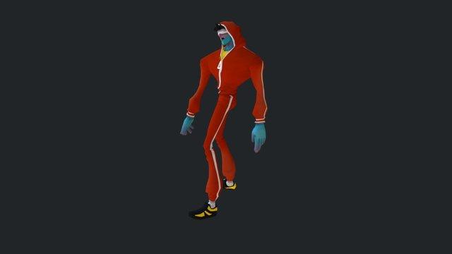 Runner Zombie Walk Cycle 3D Model