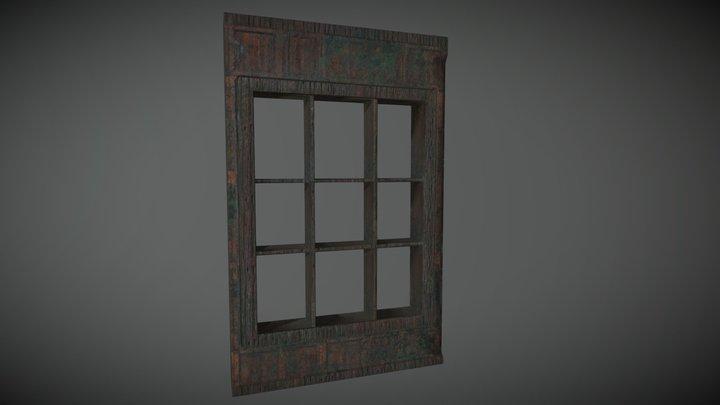Mouldy Window Frame 3D Model