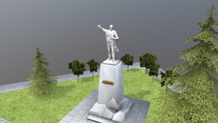 Lenin monument 3D Model