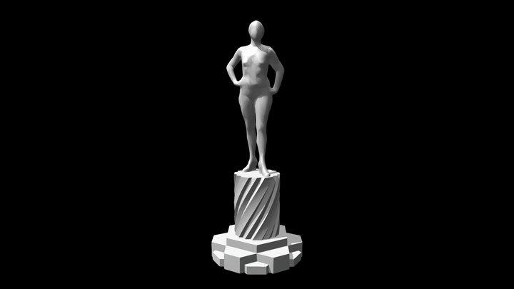 Jackie Sculpture 3D Model