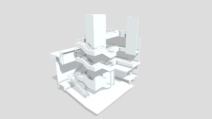 Escalier Revit 3D Model