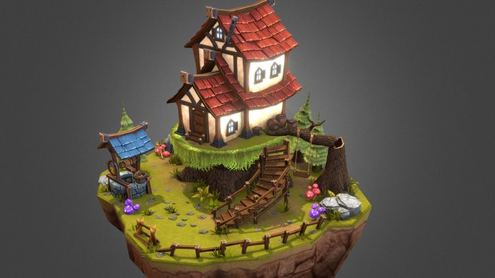 Tree Stump House 3D Model
