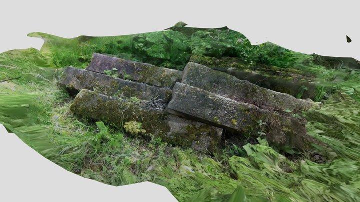Mossy concrete blocks 3D Model