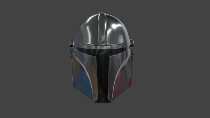 The Mandalorian's Helmet 3D Model