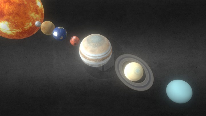 8K - Solar System - All Planets - Photorealistic 3D Model
